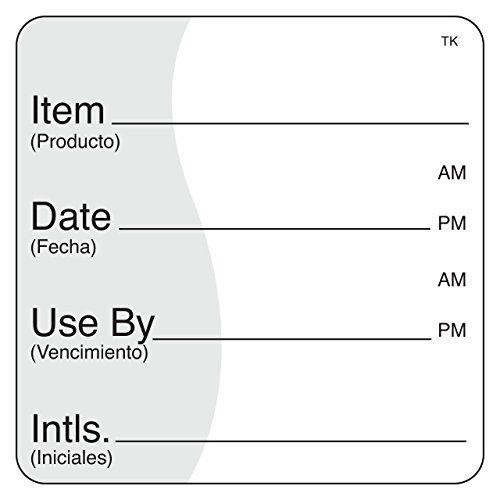 """DayMark Safety Systems IT114238 ToughMark Trilingual Repositionable Shelf Life Label, 2'' x 2"""", White (Roll of 500) by DayMark Safety Systems"""