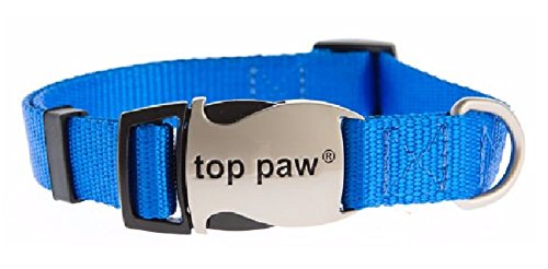 Top Paw - Signature Adjustable Dog Pet Collar w/ Sturdy Snap-On Buckle (Medium, (Top Paw Adjustable Dog Collar)