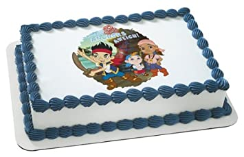 Jake Neverland Pirates Edible Cake Topper Decoration Amazon Com