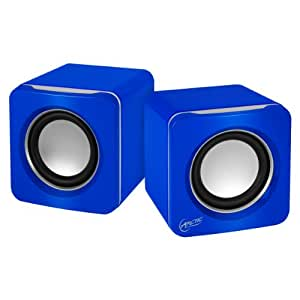 ARCTIC S111 USB-Powered Portable Stereo Speakers for Tablet/eReader/MP3/Computers, Balanced Treble/Superior Bass - Blue