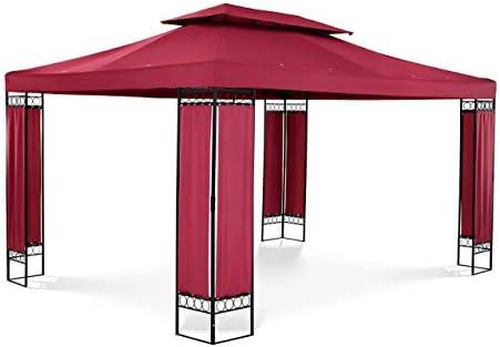 Uniprodo Pérgola De Metal Cenador para Jardín Uni_PERGOLA_3X4RF (Dimensiones: 3 x 4 m, Altura Total: 2, 60 m, Densidad de la Lona: 160 g/m2, Color Tinto): Amazon.es: Jardín