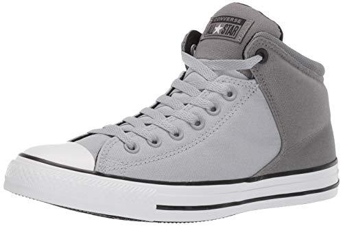 Converse Men's Unisex Chuck Taylor All Star Street High Top Sneaker Wolf Grey/Mason/Black 7 M US