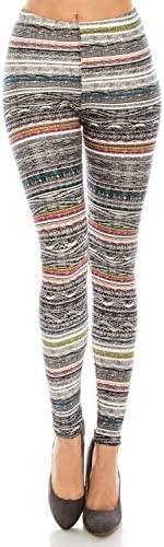 The Leggings Gallery Women's Printed Fashion Leggings Ultra Soft Solid & Patterned - Regular/Plus Sizes