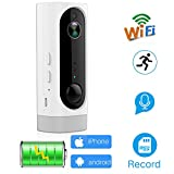 ANBAHOME Wireless Battery Powered Camera,Rechargeable 1080P WiFi IP CCTV Anti-Theft Security Surveillance System for Home Baby Pet with Night Vison iOS Android App Monitor