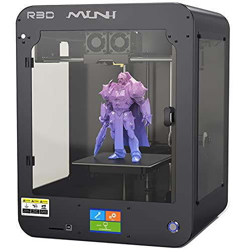 R3D Mini FDM 3D Printers,Premium Quality & Precision with Sturdy 1-Piece All-Metal Enclosed Housing,Heated Removable Magnetic Build Plate, Stable XYZ Construction and Resume Printing,SD & USB Print