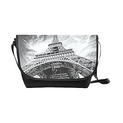 c5b1ea3be5 Crossbody Bag Eiffel Tower Black Nylon Daypacks Casual Messenger Shoulder  Bag 85%OFF