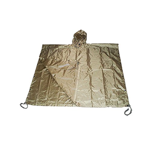 Poncho All Weather Rain Coat - Coyote TAN (Army All Weather Coat)