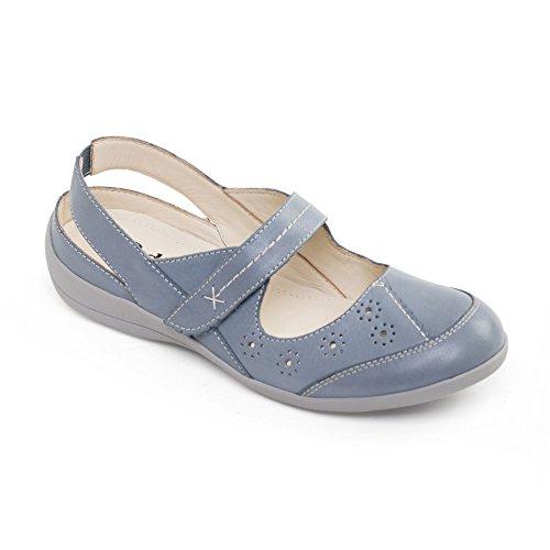 Padders Femmes Chaussure en Cuir 'Donna 2' |Extra Grande Taille EE | Avec Chausse-Pied Gratuit Bleu Ciel uoahX