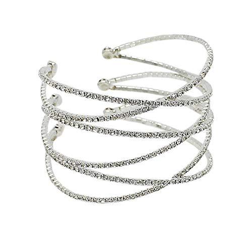 Row Cross Criss - JewelryNanny 3 Row Criss Cross Adjustable Cuff Bracelet