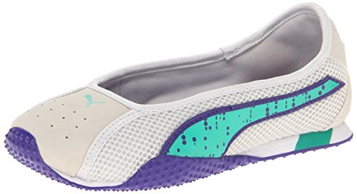 PUMA Asha Ballerina Fashion Sneaker (Toddler/Little Kid/big Kid),Vaporous Gray/Mint Leaf/Libert,12.5 M US Little Kid