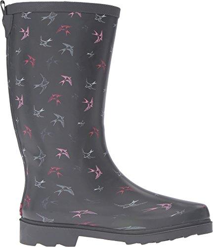 Chooka Womens Spirited Passrows Rain Boot Grigio