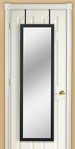 Mirrored Back Cherry - Mirrotek DM1448BLK Door Mirror, 14