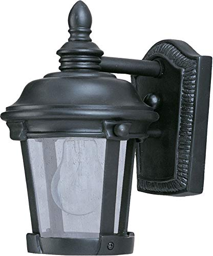 Maxim 40096CDBZ Dover VX 1-Light Outdoor Wall Lantern, Bronze Finish, Seedy Glass, MB Incandescent Incandescent Bulb , 60W Max., Dry Safety Rating, Standard Dimmable, Glass Shade Material, 3600 Rated Lumens