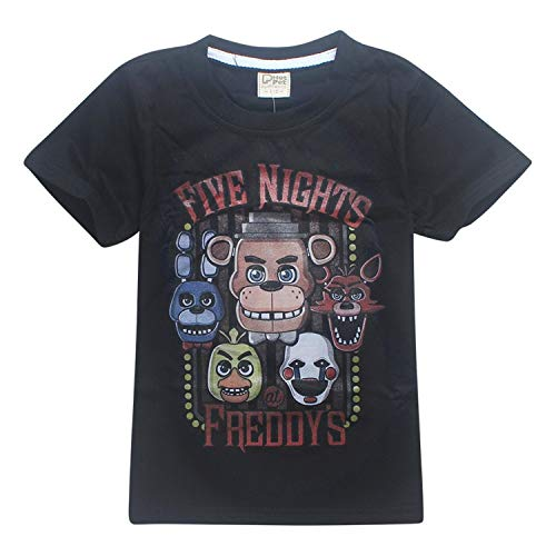 - KoreaFashion FNAF Shirt Cotton Merch Shirts for Kids Youth Birthday Welcome Funny Nightmare Coloring