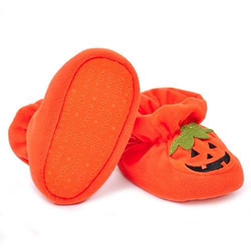Omiky® Neugeborene Säuglings-Baby-Jungen-Mädchen-Krippe-Schuhe Weiche alleinige Anti-Rutsch-Turnschuhe Gelb