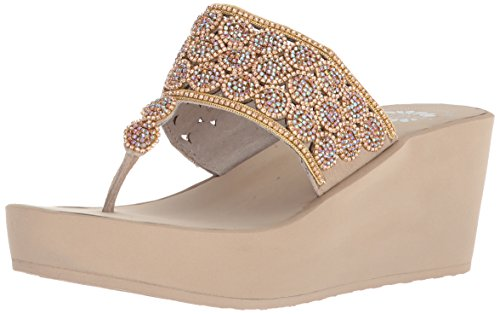 Yellow Box Women's P-Oudry Sandal, Taupe, 6.5 M US