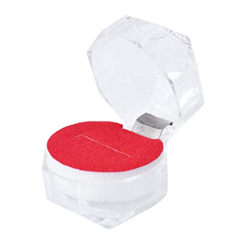 Botrong Acrylic Jewelry Packing Holder Ring Transparent Gift Box (Red) Angel Sterling Silver Key Ring