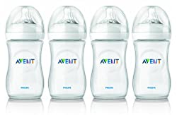 Philips AVENT 9 Ounce BPA Free Natural Polypropylene Bottles, 4-Pack