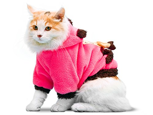 41jHAryB2aL - PLS Pet Halloween Hoodie for Cats, Hoodie for Dogs, Winter Dog Coat, Dog Costume, Cat Costume, Protects from Cold Weather, Halloween Sale