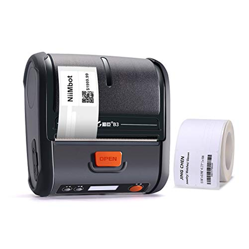 JINGCHEN Portable B3 Thermal Label Printer, Android & iOS, Glasses, Jewelry, Bracelets, Antiques, Barcode.(0.98x1.18+1.77in) 100 Labels/roll, 1 roll for Free by JINGCHEN (Image #8)