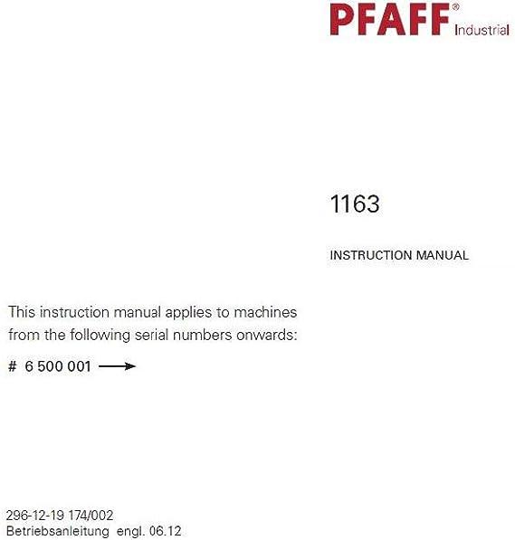 Descargar Pdf-File Pfaff 1163 Manual de usuario máquina de coser ...