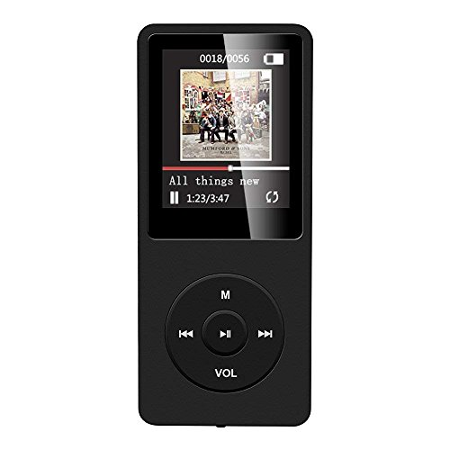 AGPTEK A02 8GB & 70 Hours Playback MP3 Lossless Sound Music Player (Supports up to 64GB), Black by AGPTEK