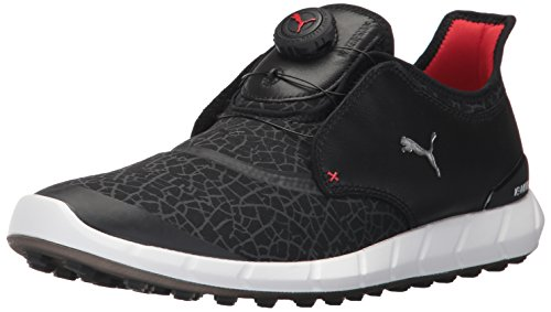 Scarpa Da Golf Per Puma Mens Ignite Disc Extreme Nera / Argento / Dark Shadow