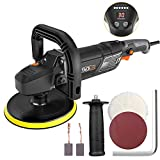 "Tacklife Polisher, 7""/9"" 12.5Amp 1500W Variable Speed Polisher, Buffer/Waxer, Digital Screen, Ideal For Car Polishing&Wood Polishing- PPGJ01A"