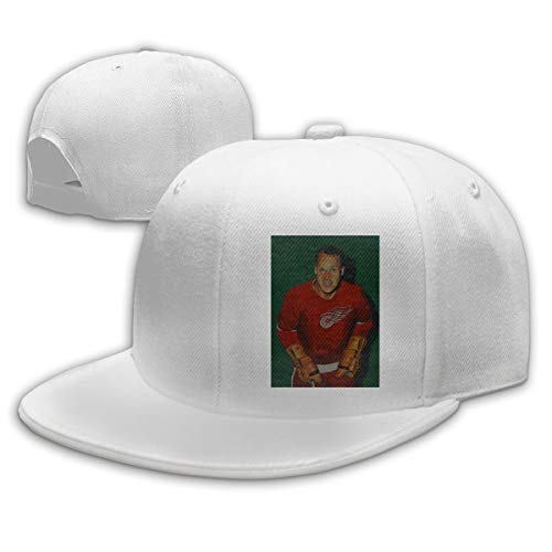 Men Women Gordie-Howe-Paint Baseball Cap Classic Adjustable Plain Hat White
