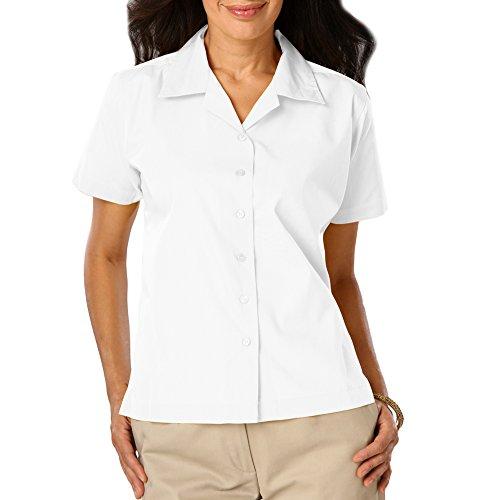 - Blue Generation BG6100 - Ladie's Poplin Camp Shirt (XS, White)