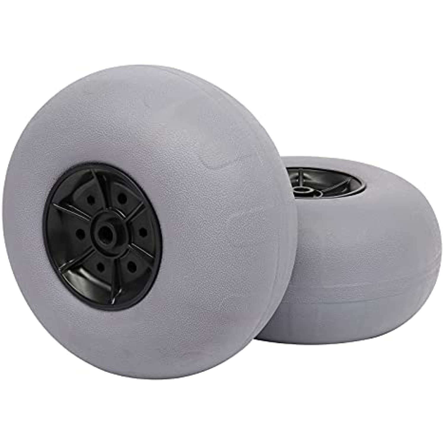 Bonnlo Replacement Balloon Wheels 12 Big Beach Sand Tires for Kayak Dolly Canoe Carts Buggy with Free Air Pump Axle Diameter (12mm)