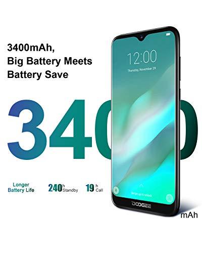 "4G Cellulari in Offerta, DOOGEE Y8 Android 9.0 Smartphone Economici in Offerta Dual SIM, 19:9 6,1 "" Waterdrop Schermo, 3 GB RAM 16 GB ROM 3400 mAh Telecamera Doppia 8MP+5MP, Fingerprint Face ID,Viola"