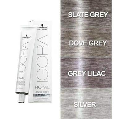 Schwarzkopf Professional Igora Royal Absolutes Silverwhite Grey Lilac - 60 ml (4045787320091)
