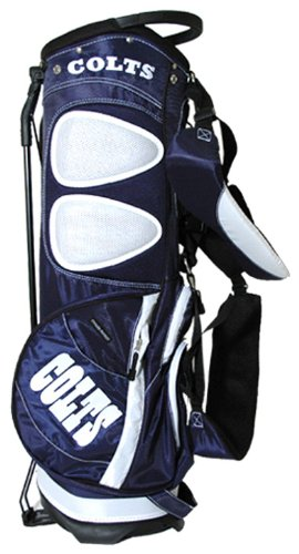 Team Golf NFL Indianapolis Colts Fairway Golf Stand Bag, Lightweight, 14-way Top, Spring Action Stand, Insulated Cooler Pocket, Padded Strap, Umbrella Holder & Removable Rain Hood