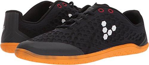 Vivobarefoot Stealth 2 Women's Iconic Road Running Shoe, Black/Orange, 37 D EU (7 US)
