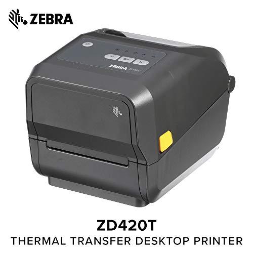 (Zebra - ZD420t Thermal Transfer Desktop Printer for Labels and Barcodes - Print Width 4 in - 300 dpi - Interface: USB -)