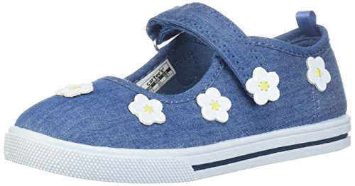 carter's Girls' Izzy Casual Mary Jane Flat, Blue, 5 M US Toddler - Infant Girl Carters Daisy