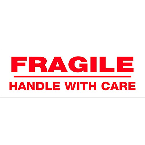 Tape Logic TLT902P026PK Pre-Printed Carton Sealing Tape,Fragile Handle With Care, 2.2 mil, 2'' x 110 yd, Red/White (Pack of 6) by Tape Logic