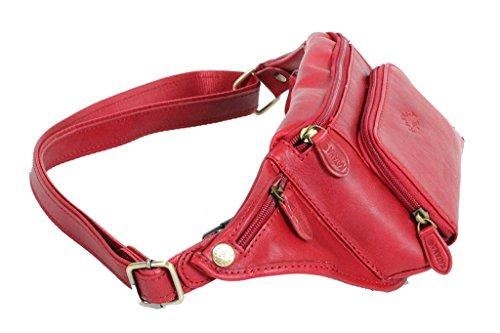 Piel Rojo Para Hombre De Mano Katana Cartera 7xtq70