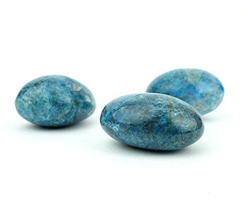 Apatite Mineral (Blue Polished Apatite Free-form Smooth Stone Mineral Specimen 1-1.5