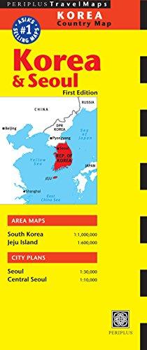 Korea & Seoul Travel Map Second Edition (Periplus Travel Maps)