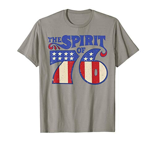 The Spirit 76 Vintage Retro 4th of July Independence Day T-Shirt