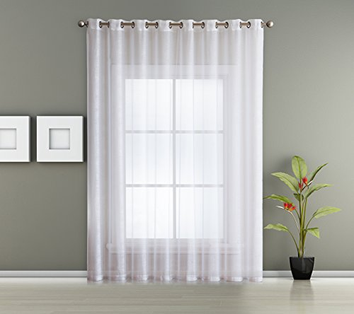 1 Extra Wide Patio Grommet Semi Sheer - Curtain Panel by AsaTex - 102 Inch Wide - 84 Inch Long - Perfect For Patio and Glass Sliding Door (Patio 102
