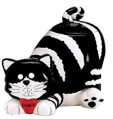 Chester The Cat/Kitty Cookie Jar Food Container (With Jar Cookie Ceramic Lid)