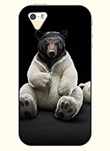 OOFIT Phone Case design with Bear in White for Apple iPhone 5 5s 5g