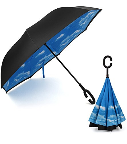 Rainlax-Inverted-Double-Layer-Windproof-UV-Protection-Reverse-folding-Umbrellas