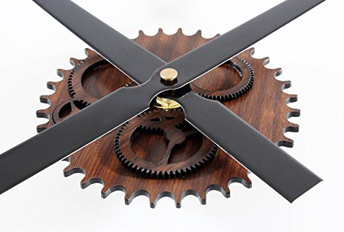 ZLYC 12 Inch Acrylic Vintage Creative European Style Novelty Simple DIY Quartz Gear Dial Wall Clock