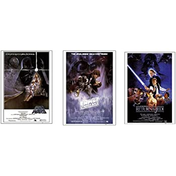 Amazon.com: Dry Mount Poster Matte Back Wood Framed Episode IV V VI ...