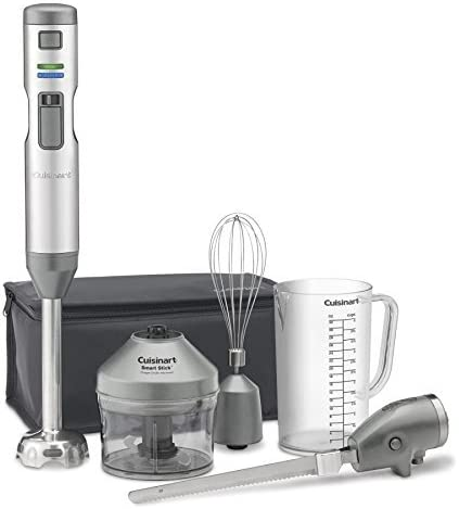 Renewed Stainless Steel One Size Cuisinart CSB-300 Rechargeable Hand Blender with Electric Knife
