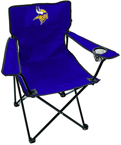 Rawlings NFL Gameday Elite Lightweight Folding Tailgating Chair, with Carrying Case, Minnesota Vikings